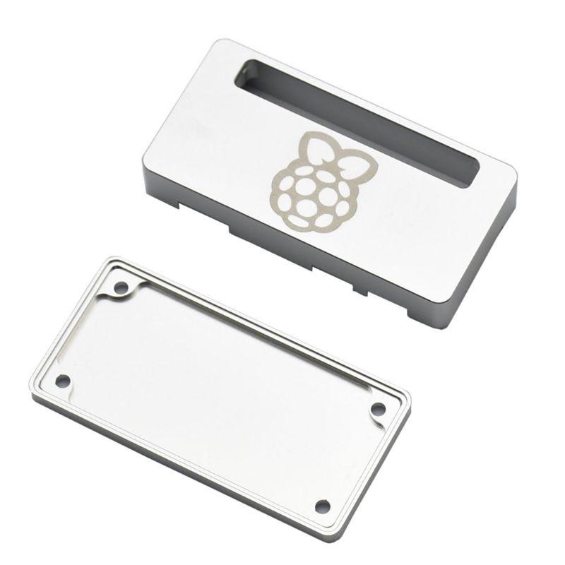 1 Bộ Vỏ Hợp Kim Nhôm Cnc Màu Bạc / Đen Bảo Vệ Cho Raspberry Pi Zero