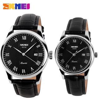 Đồng hồ đôi SKMEI chính hãng 9058 dây da chống nước cao cấp thumbnail