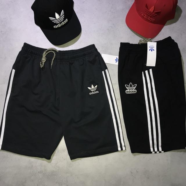 Quần short nam thể thao Adidas (chất thun, logo thêu, hai túi khoá kéo)