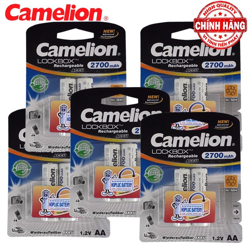 Bộ 4 Pin Sạc AA (2A) Camelion LockBox Rechargeable Accu 2700mAh - 1.2V