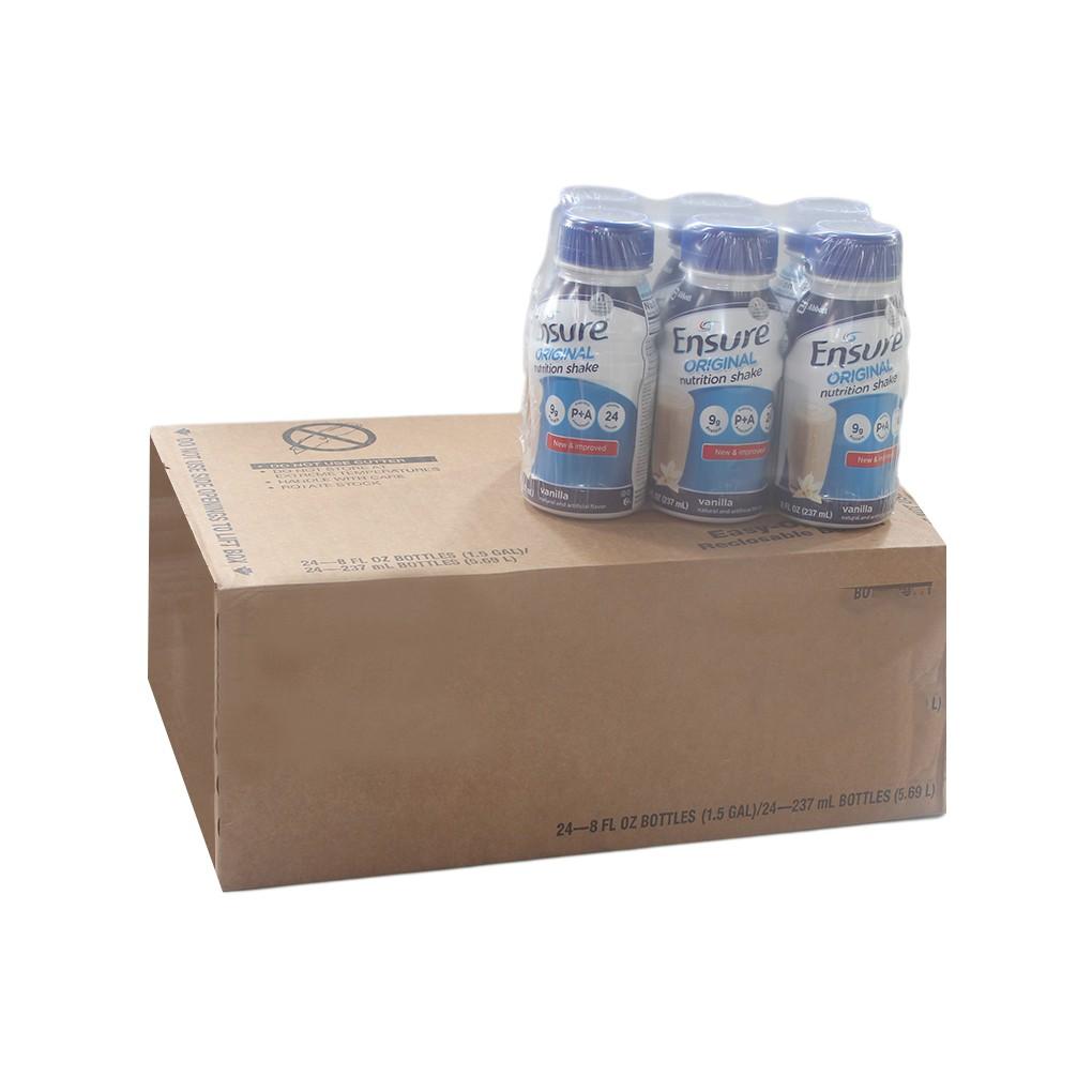Thùng sữa Ensure Orginal nước hương Vani 237ml (24 chai)