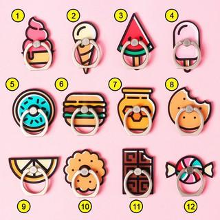 [Full hộp] Iring Giá Đỡ Điện Thoại Chiếc Nhẫn Hình Bánh Kẹo Cute Bám Siêu Chắc thumbnail