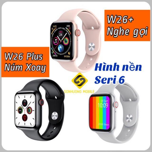 Đồng hồ thông minh W26 Plus/W46 màn hình tràn viền 1.75 inch chống nước IP68 theo dõi sức khỏe hỗ trợ tiếng Việt