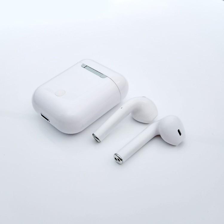 Tai Nghe Bluetooth 5.0 I12 TWS | Cảm Biến Vân Tay, Chất Âm Êm, Trong Trẻm Thời Lương Pin Tốt, Sang Trọng