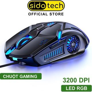 Chuột gaming máy tính có dây game thủ SIDOTECH 3200DPI Chế độ LED 7 màu 6 nút bấm cho game thủ - Hàng Chính Hãng thumbnail