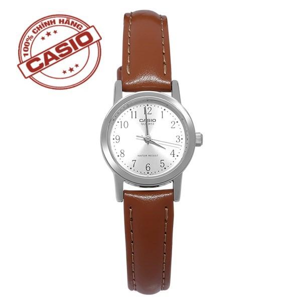 Đồng hồ nữ dây da Casio Standard Anh Khuê LTP-1095E-7BDF Chính hãng