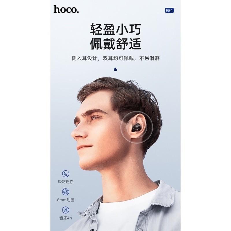 ✔HÀNG CHÍNH HÃNG✔Tai nghe thể thao Hoco E54 Dòng 1 tai-Mia mini Bluetooth V5.0 không dây 40Mah-pin khủng BẢO HÀNH 12T-Sỉ