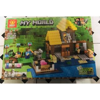 Bộ lego MY WORLD nông trại chăn nuôi 494 chi tiết