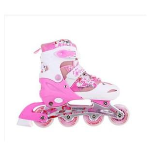 Giày trượt Patin trẻ em Long Feng 906 – màu Hồng S, M [Queensport92]