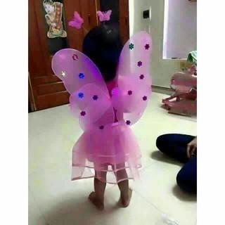 Combo 5 bộ cánh tiên có đèn vui trung thu cho bé gái_miễn phí shjp