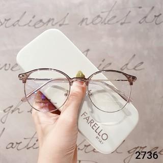 Hình ảnh Gọng kính cận tròn kim loại thời trang nữ Lilyeyewear 2736-5