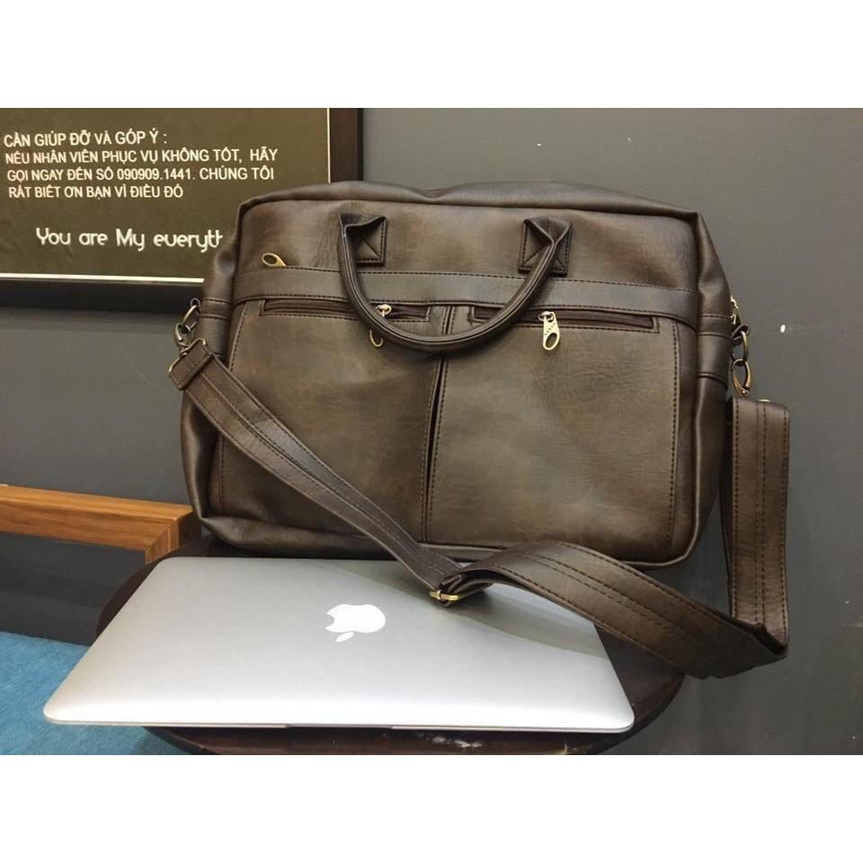 Cặp xách da CNT công sở cao cấp đựng được laptop HQ07 nhiều màu | SaleOff247