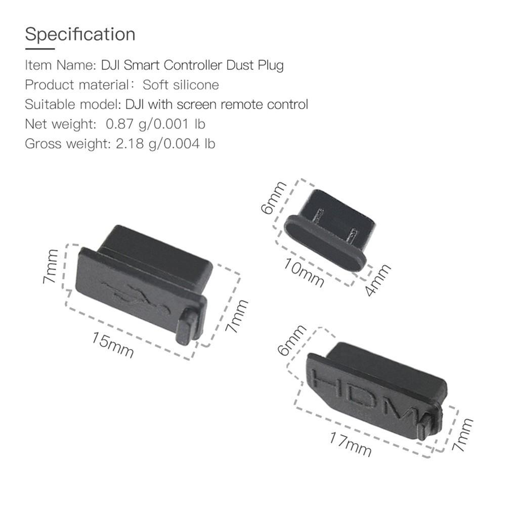 Nút bịt chống bụi cổng HDMI & Type-C cho tay cầm điều khiển DJI MAVIC 2 squishy thanh lý