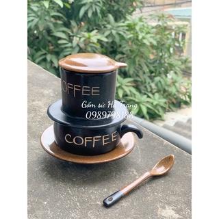 Combo bộ phin pha cafe kèm muỗng sứ thumbnail