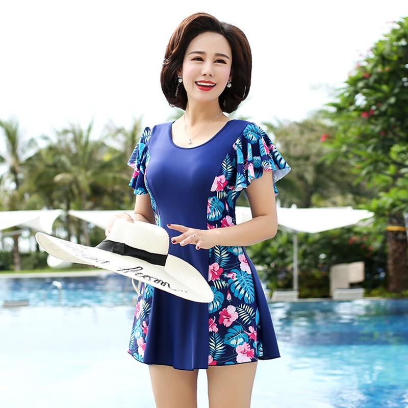 Bộ Đồ Bơi Che Bụng Size Lớn Thời Trang Cho Phụ Nữ Trung Niên