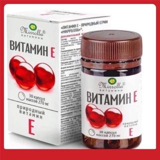 Sản phẩm vitamin e đỏ 270mg mirrolla của Nga (30v)