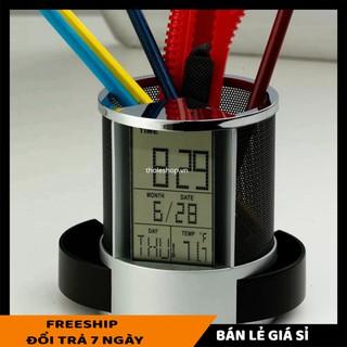 Hộp bút SALE ️ Hộp đựng bút có đồng hồ tiện lợi, có chức năng hẹn giờ, chế độ nhắc nhở tiện lợi, âm thanh lớn 4732