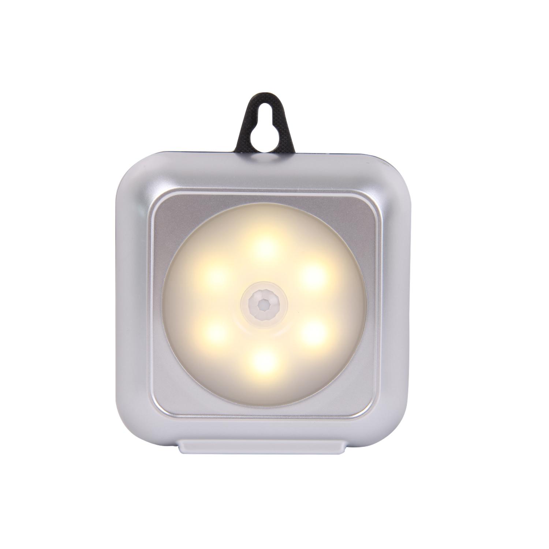 1 Đèn Led 6 Bóng Cảm Biến Chuyển Động Chạy Bằng Pin Gắn Tủ Chén / Cầu Thang / Tủ Bếp