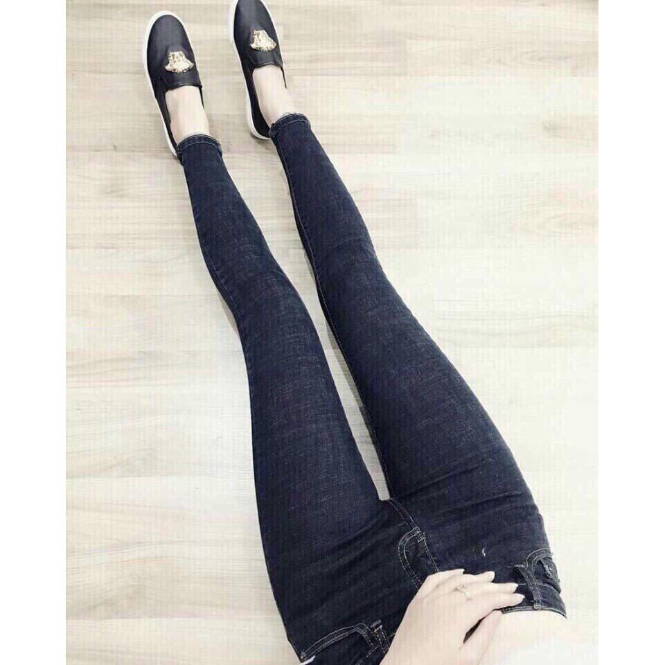 QUẦN NỮ QUẦN JEAN Nữ Đẹp [ĐEN VÀ XANH] Quần Jean Nữ xanh trơn Quần jeans