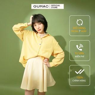 Chân váy nữ xòe GUMAC màu vàng, đủ size, năng động, trẻ trung VB1150 thumbnail
