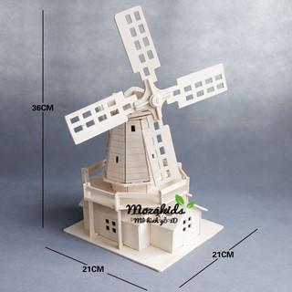 Đồ chơi lắp ráp Mô hình Cối xay Gió Dutch Windmill