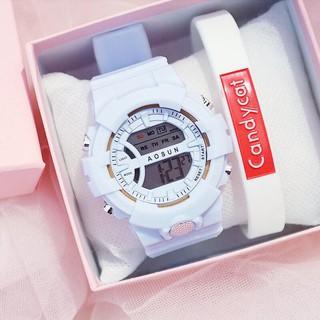 Đồng hồ điện tử nam nữ AOSUN Q121 mẫu mới tuyệt đẹp MS7730