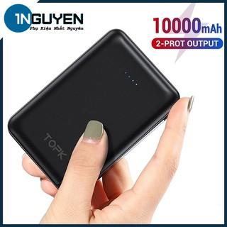 Pin Sạc Dự Phòng 10000mAh 2 Cổng USB | Power Bank 2 Port OutPut - TOPK 1004