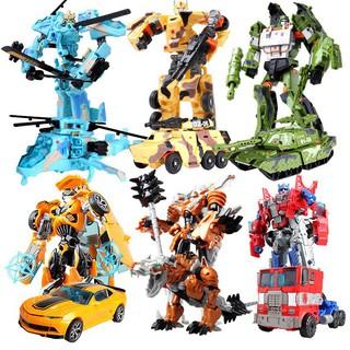 【Hot Sale】Transformers Children Manual Optimus Prime Detroit Hornet Robot Toys
