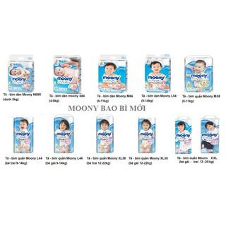 Tã Quần Dán Moony Nhật Đủ Size S84 M64 L54 L44 Xl38 Cho Bé (Hàng Nhập Khẩu Chính Hãng)