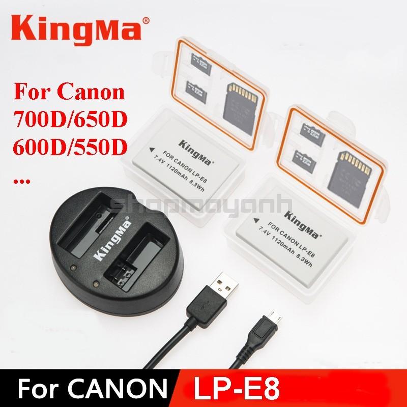 Bộ 2 Pin và Sạc đôi KingMa LP-E8 cho CANON 700D/650D/600D...