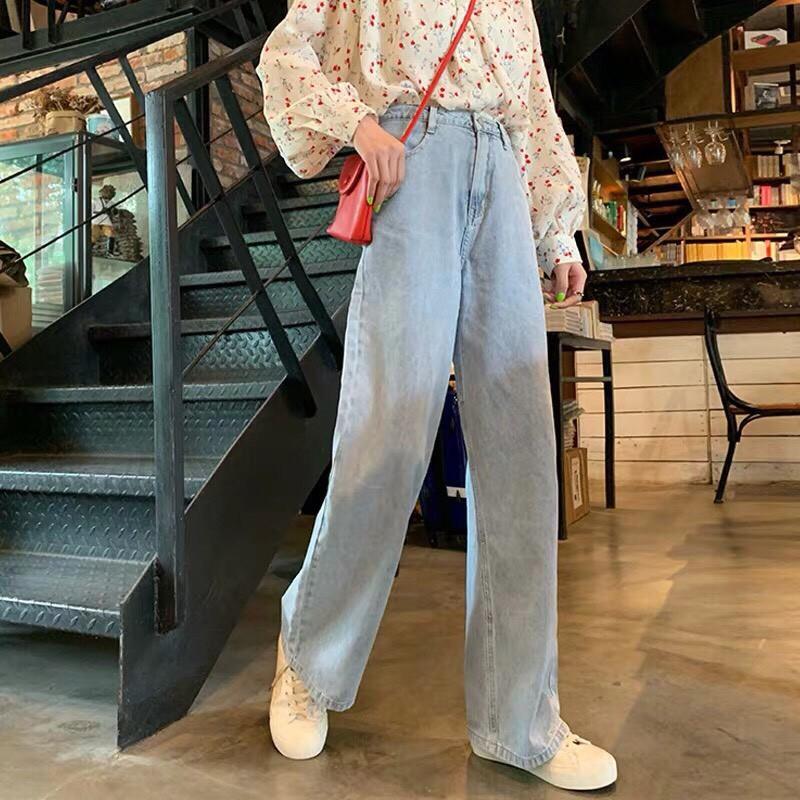 [Mã WASEPRN hoàn 20% xu đơn 99k] Quần jean ống rộng nữ đơn giản lai cuốn cao cấp Hadi cực chất đủ size S, M, L-NL12308