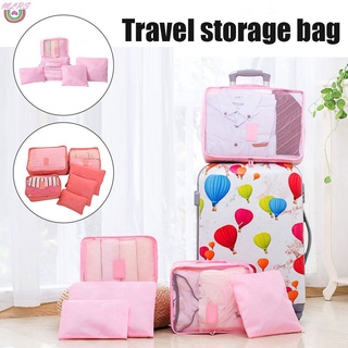 MS Travel Packing Cubes Set Toiletry Kits Bag Luggage Organizers Travel Storage Bags Travel Multi-functional Clothing