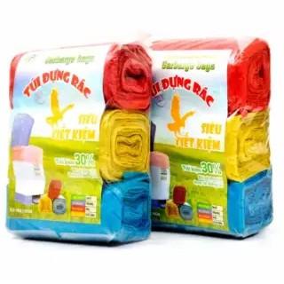 [Nhập HC1712 giảm 10%]Túi rác cuộn màu (3 cuộn/túi/1kg)
