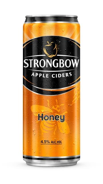 Thùng 24 lon nước táo lên men Strongbow vị mật ong 330m