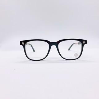 Gọng kính cận nam chrome dáng vuông to