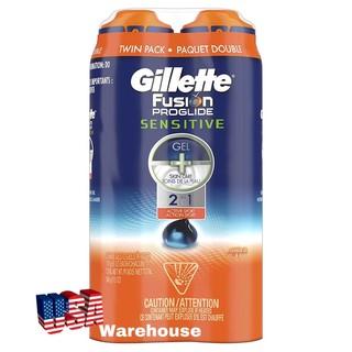 1 chai Gel cạo râu Gillette Fusion Proglide Sensitive 170g