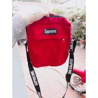 Túi đeo chéo SUPREME đỏ – đen