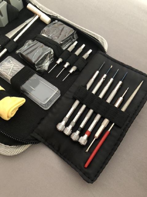 Bộ dụng cụ sửa chữa đồng hồ cơ bản dạng túi vải