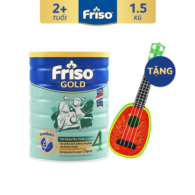 [Độc Quyền Shopee - Tặng Đàn Trái Cây Cho Bé] Sữa Bột Friso Gold 4 1500g