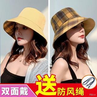 Mũ, mũ nữ câu cá mùa hè, nữ sinh hàn quốc, mũ hai mặt hoang dã Nhật Bản che nắng, che nắng kem chống nắng thumbnail