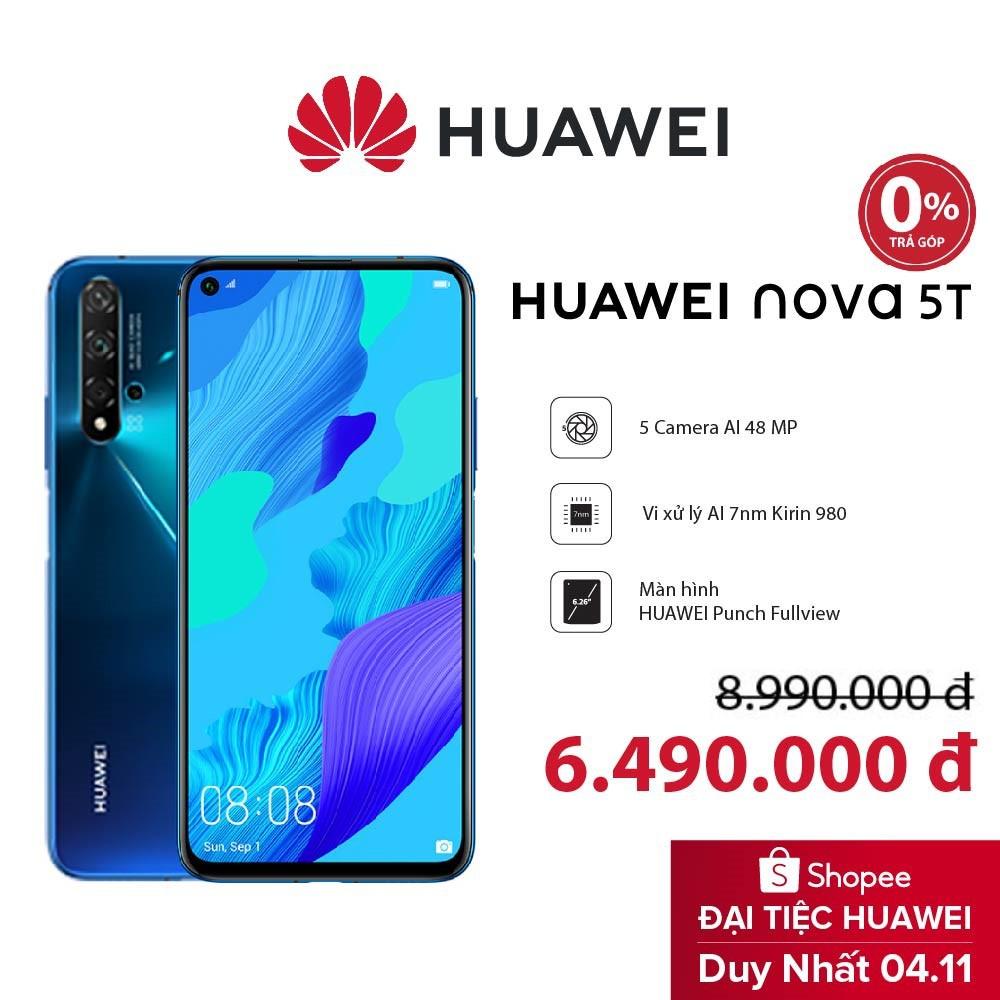 Điện thoại Huawei Nova 5T 8G/128G