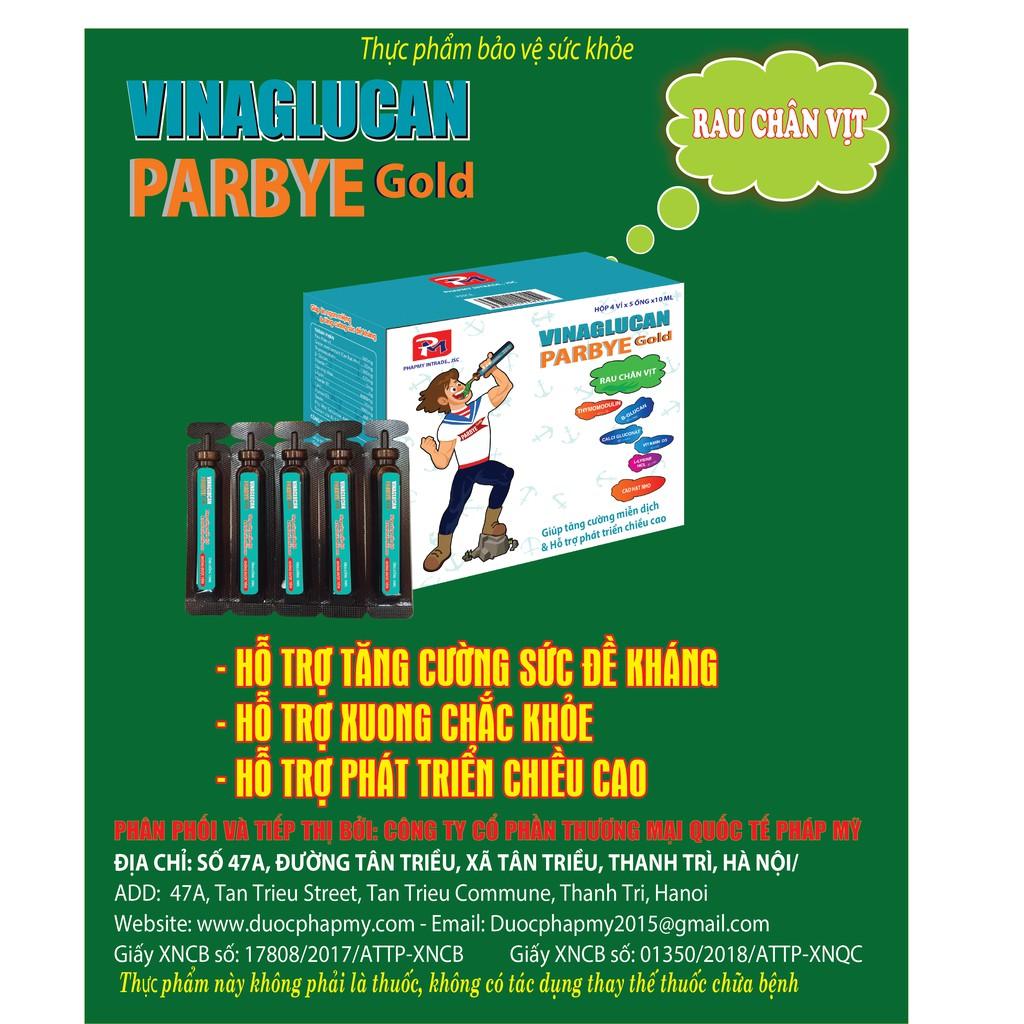 Tăng cường miễn dịch và phát chiều cao: VINAGLUCAN PARBYE GOLD