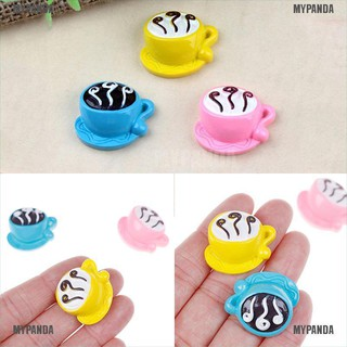 MYPANDA 3pcs mini coffee cup toy kids diy kitchen room food drink toy Refrigerator parts