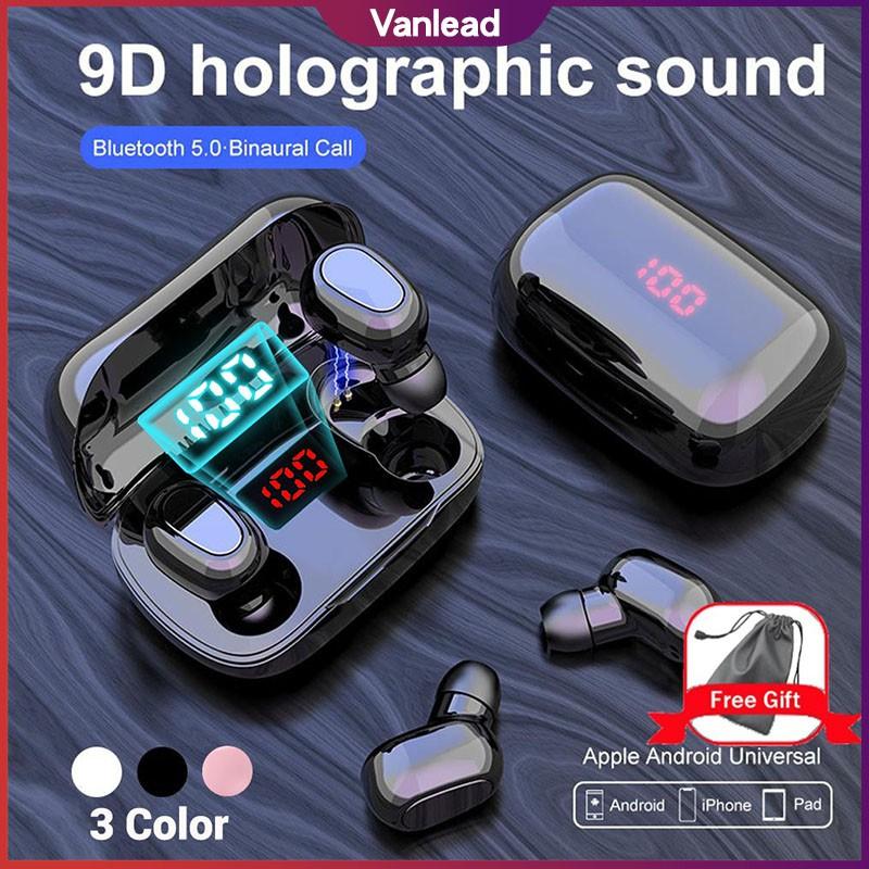 Tai nghe Bluetooth không dây L21 Pro 5.0 âm thanh trầm cho điện thoại thông minh