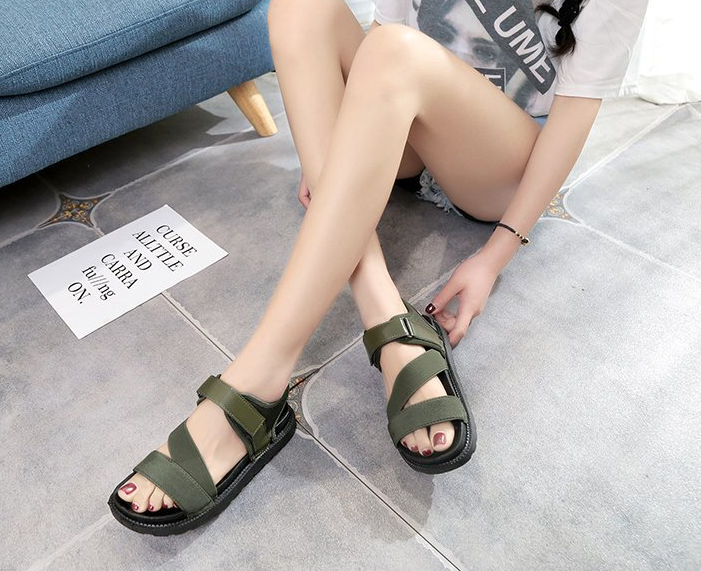 Giày Sandal Đế Bằng Thời Trang Mùa Hè Cho Nữ