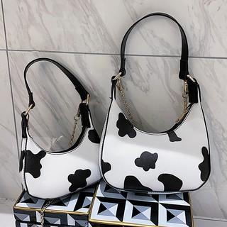 Túi cắp nách họa tiết bò sữa kiểu dáng Hàn Quốc C923