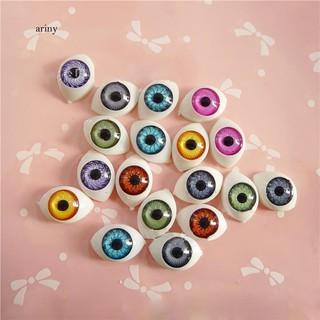 ♞Mini Plastic Colored Doll Eyeballs DIY Craft Reborn Making Dollhouse Accessory