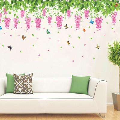 Decal dán tường dàn hoa tigon lớn