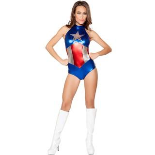 Bộ Đồ Hóa Trang Halloween Nhân Vật Captain America Gợi Cảm Cho Nữ