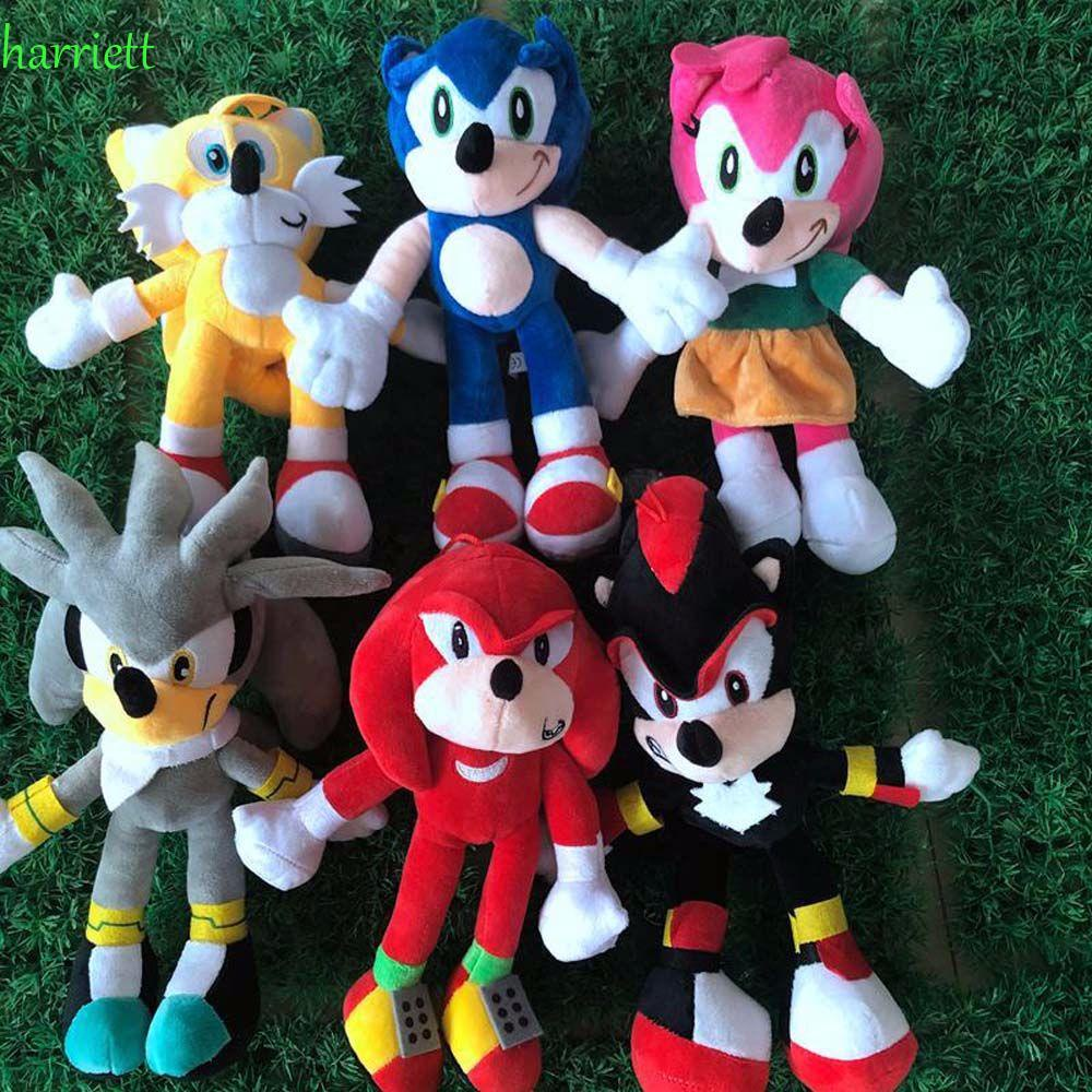 HARRIETT 28CM Sonic the Hedgehog Shadow Plush Toys Sonic Dolls Figure Toys Peluche Animal Dolls Soft Stuffed Stuffed Toys Cartoon Plush Dolls/Multicolor